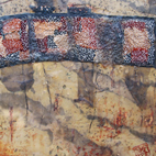 Encaustic textile paintings