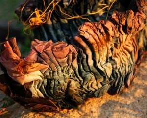 Shibori stitched