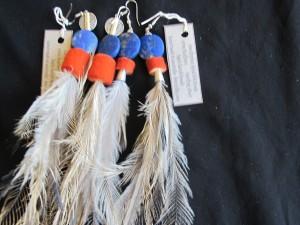 felt bead emu earings _4039