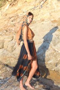 outfit combining eucalyptus and indigo