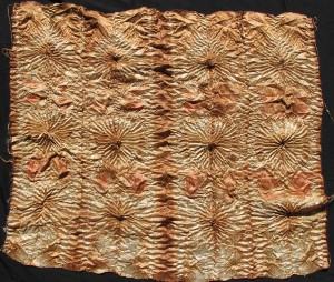 Eucalyptus Dyed Gondwana Colour silk stitched shibori